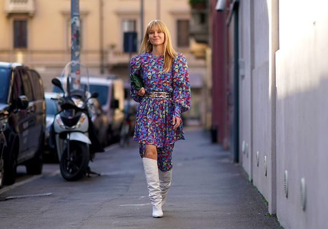 Street style : comment porter la robe à manches ballon ?