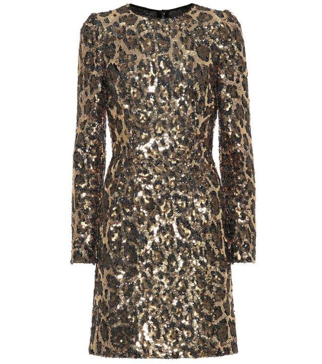 Robe à paillettes Dolce & Gabbana sur Mytheresa