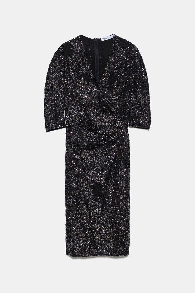 Robe A Paillettes Zara 15 Robes A Paillettes Pour Illuminer Ses Fetes De Fin D Annee Elle