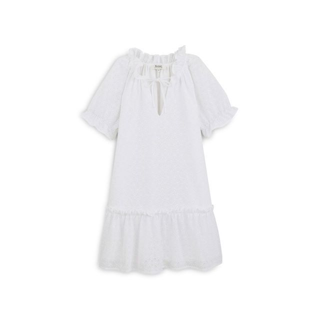 Robe blanche à broderie anglaise Balzac Paris