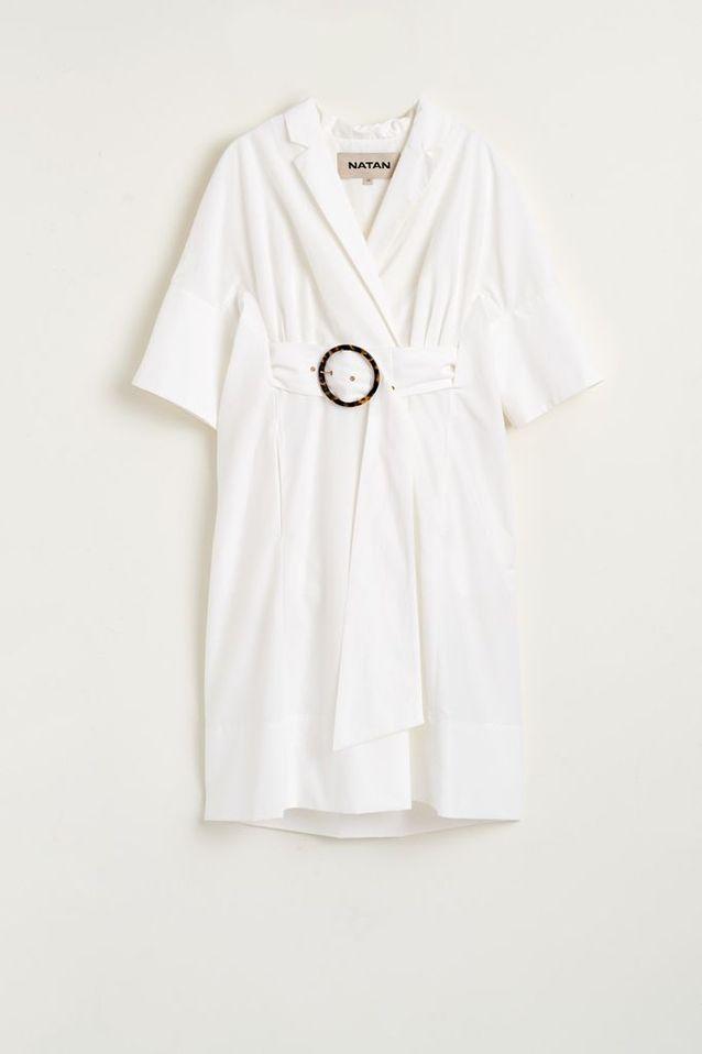 Robe blanche en coton NATAN