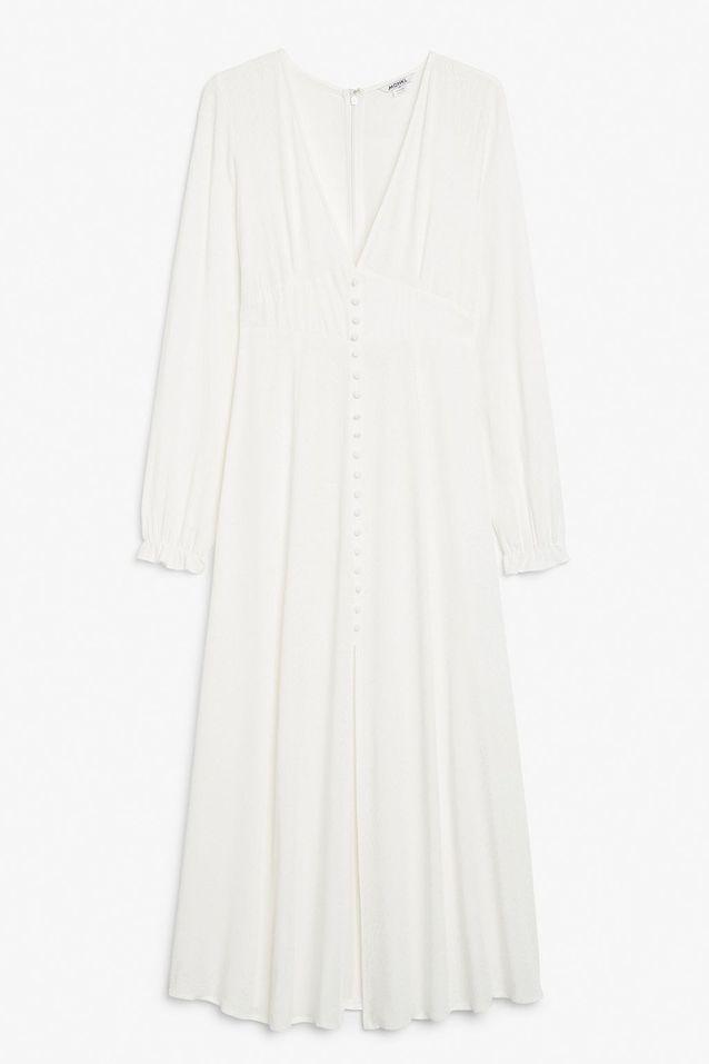 Robe blanche longue Monki