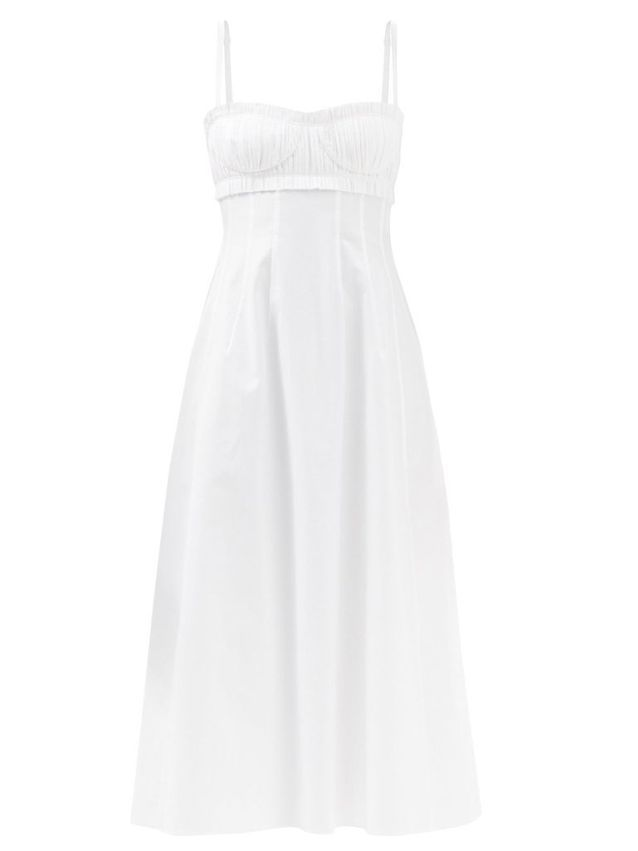 Robe bustier blanche KHAITE sur Matchesfashion