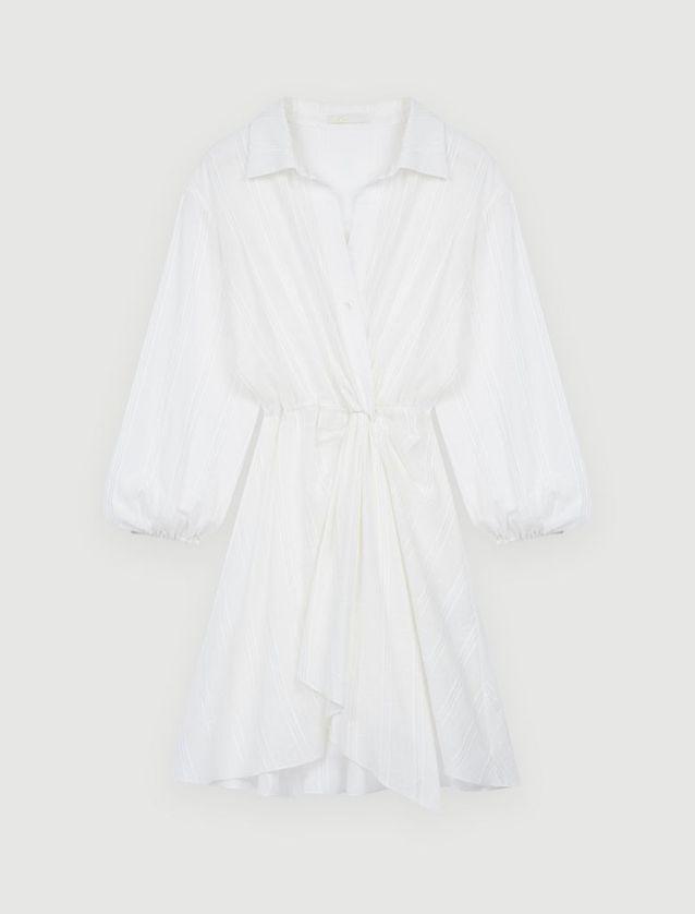 Robe chemise blanche Maje