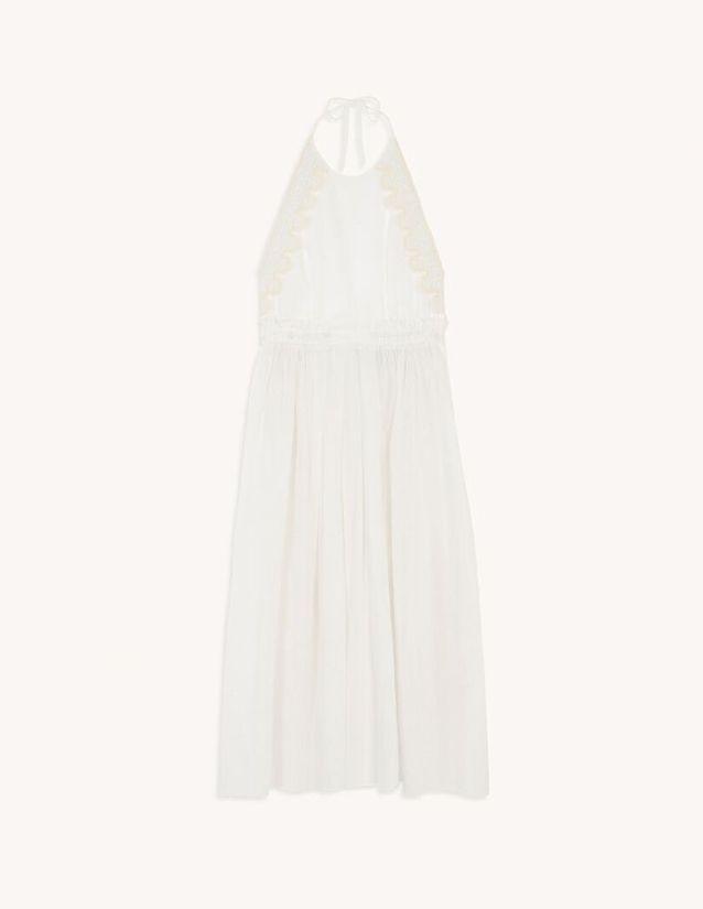 Robe longue dos nu blanche Sandro