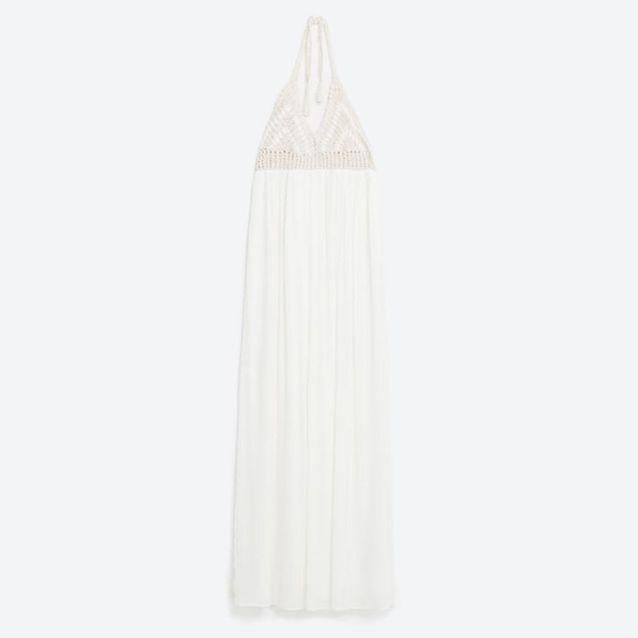 Robe de plage au crochet Zara
