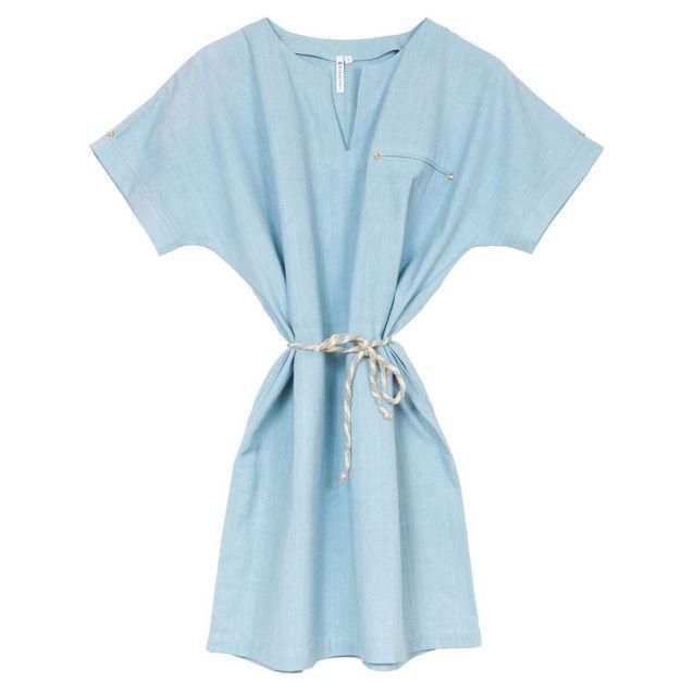 Robe de plage bleue Mamamushi