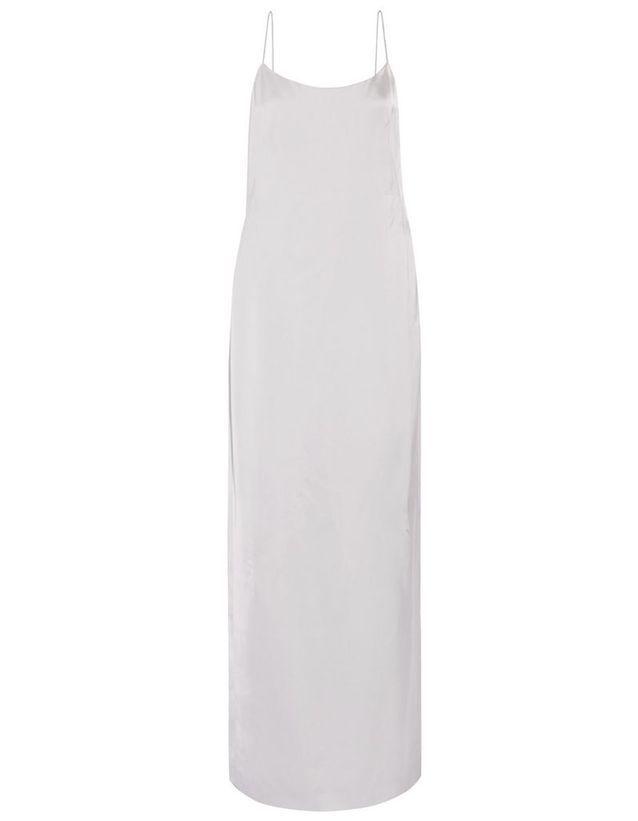 Robe en soie blanche Calvin Klein Collection