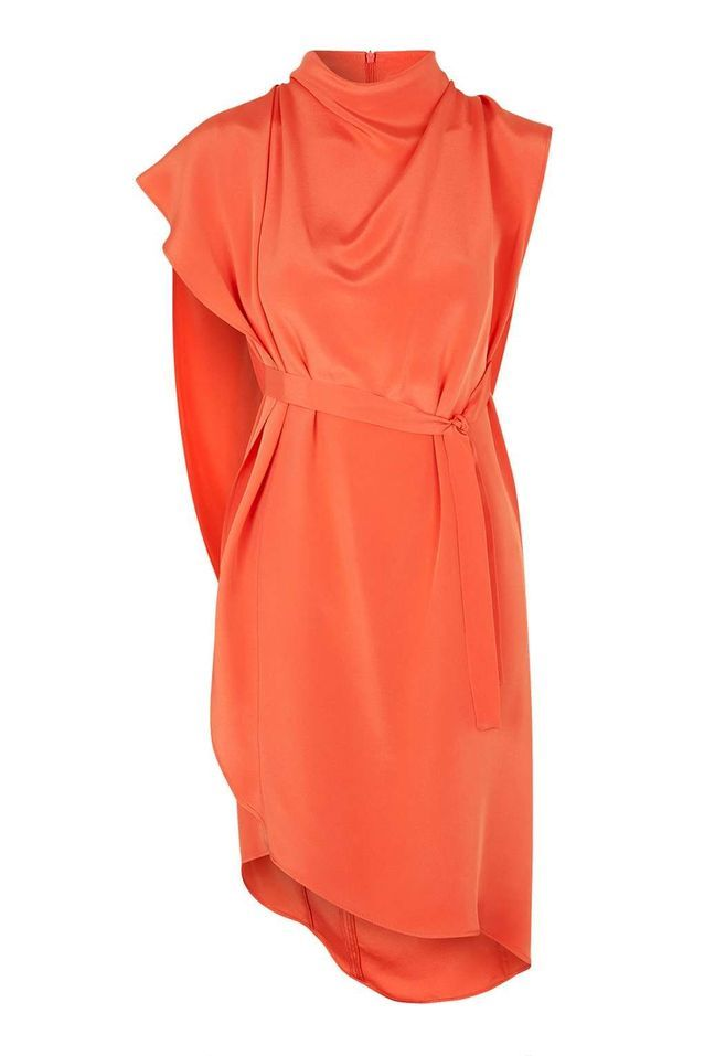 Robe en soie orange Topshop
