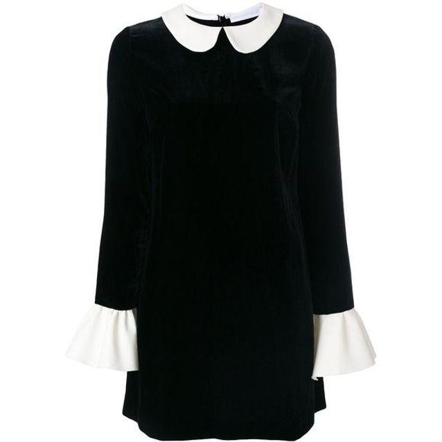 ff2a80e74 Robe en velours à col claudine Blanchett Dame - 25 robes en velours ...