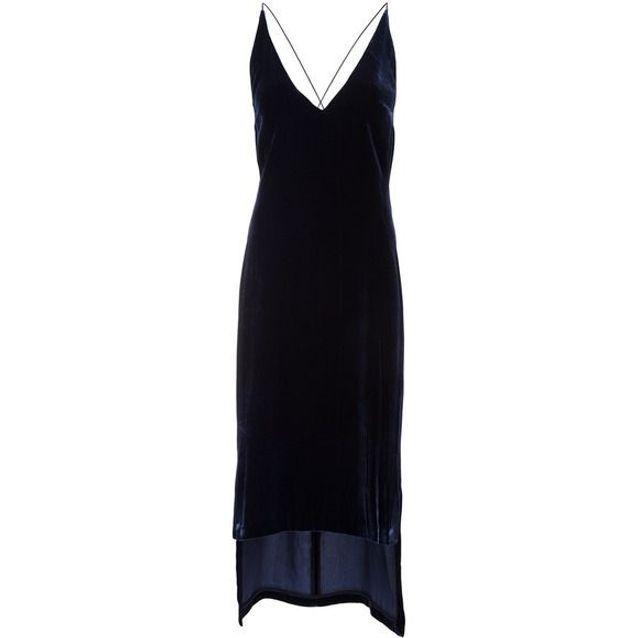 Robe en velours asymétrique Dion Lee