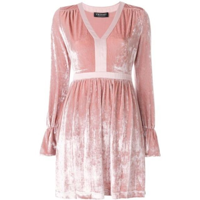 Robe en velours rose Twin Set