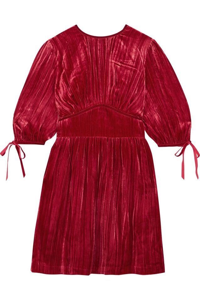 Robe en velours rouge Alexa Chung