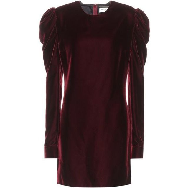 Robe en velours rouge Saint Laurent