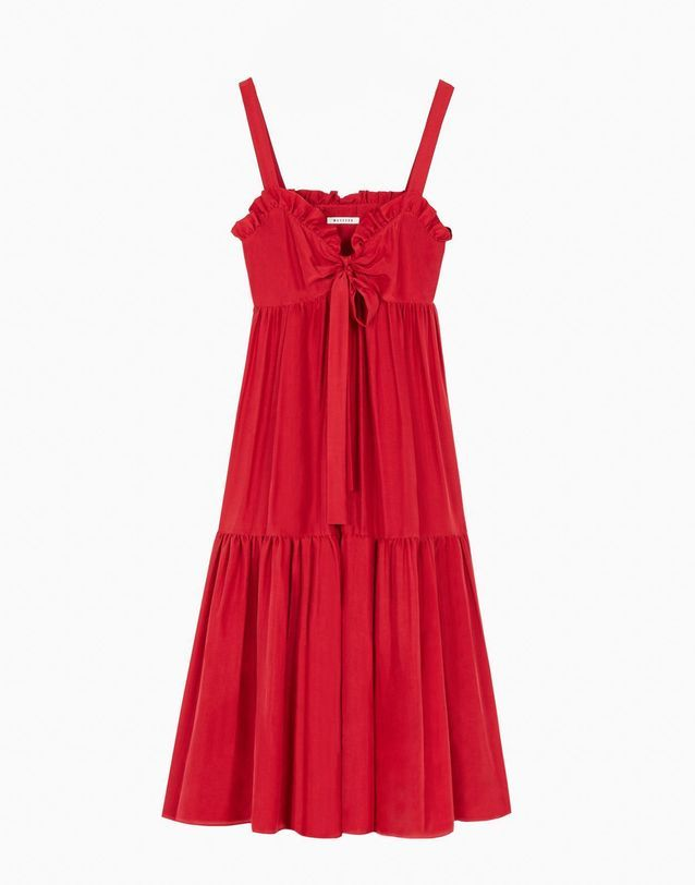 Robe fluide rouge Masscob