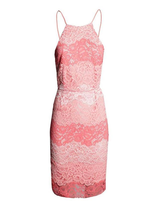 Robe fourreau corail