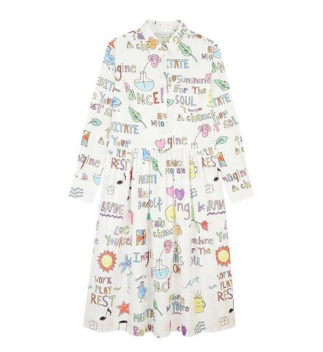 Robe à imprimé Mira Mikati aux Galeries Lafayette