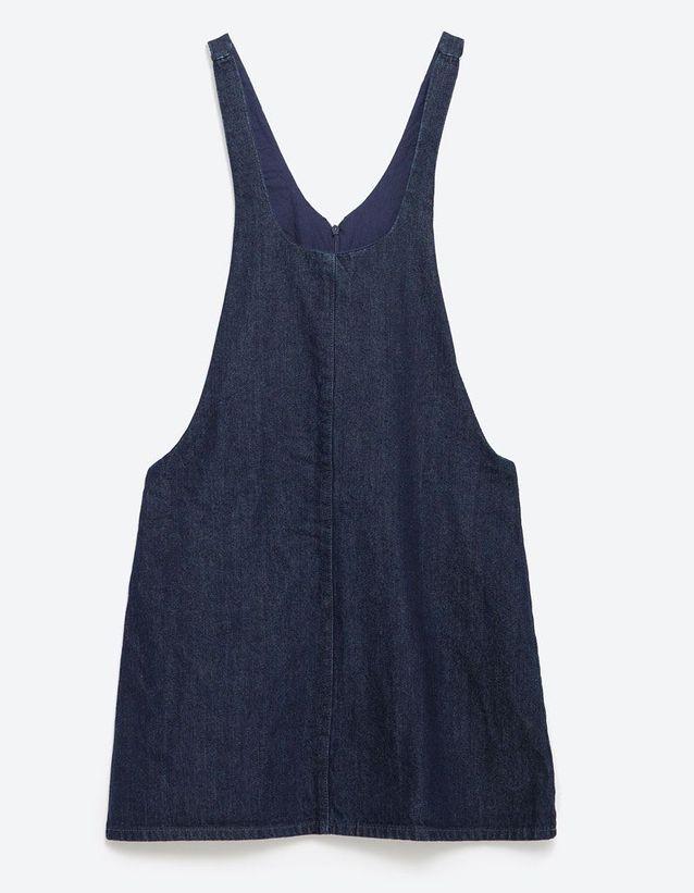 Robe salopette en jean Zara
