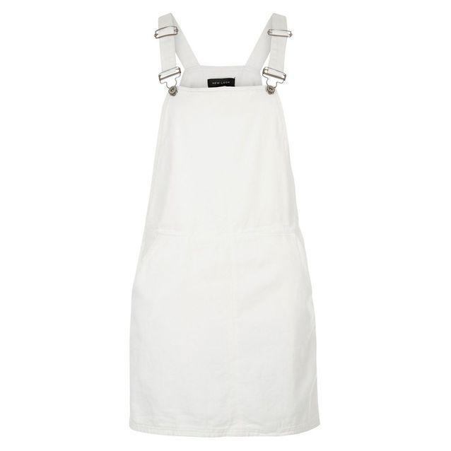 Robe tablier blanche