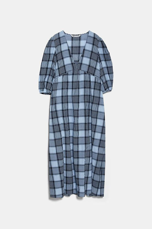 Robe à carreaux Zara