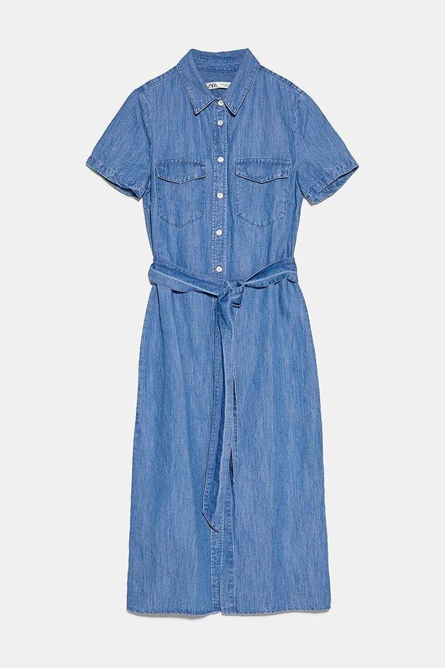 Robe en jean Zara