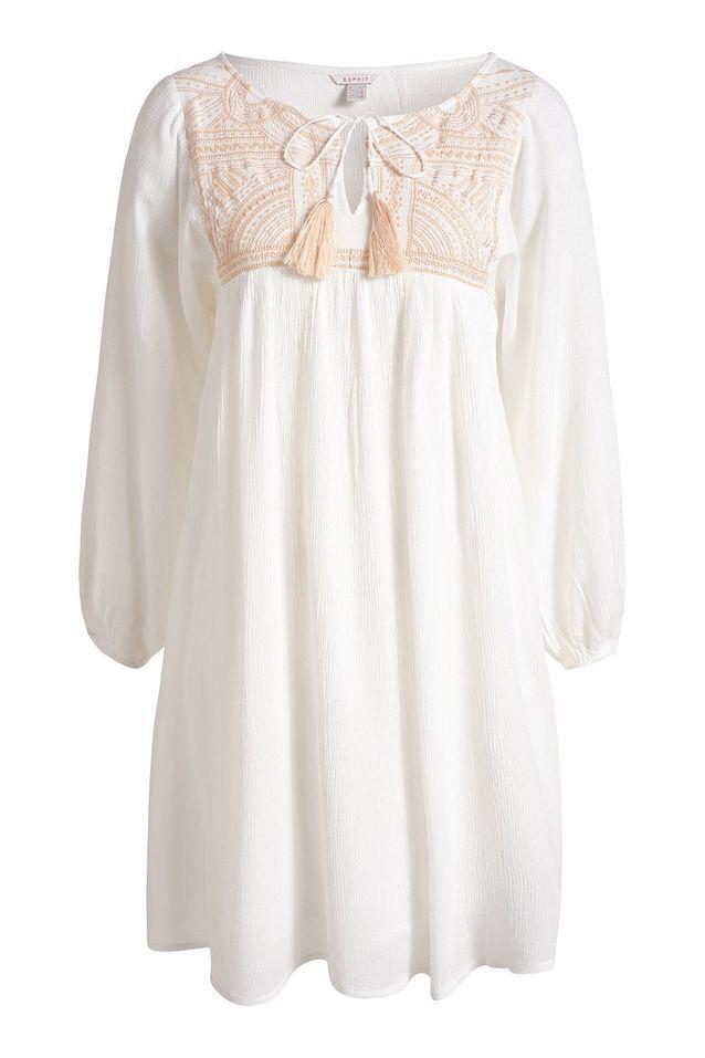 Robe de plage blanche Esprit