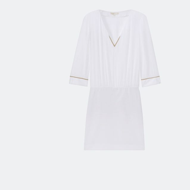 Robe de plage blanche Maje