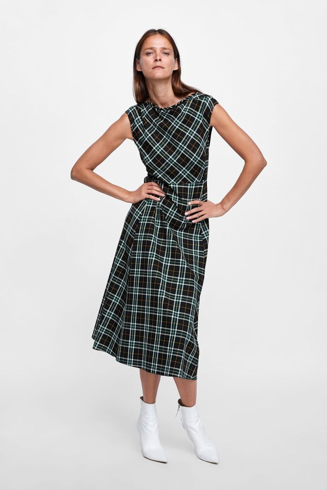 Robe à carreaux Zara