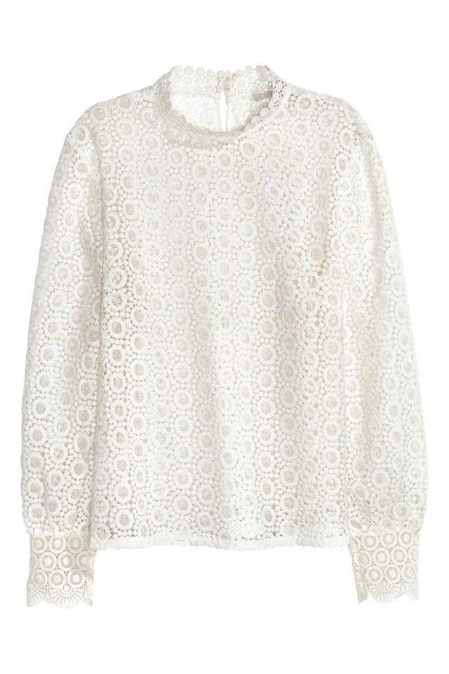 info pour gamme exclusive Réduction Blouse en dentelle graphique H&M - 20 blouses en dentelle ...