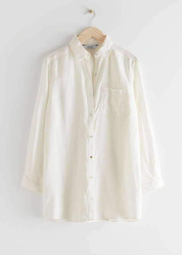 Chemise blanche en lin & Other Stories