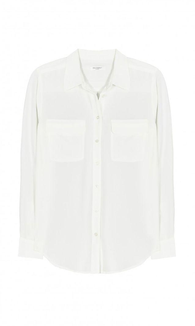 Chemise blanche en soie Equipment