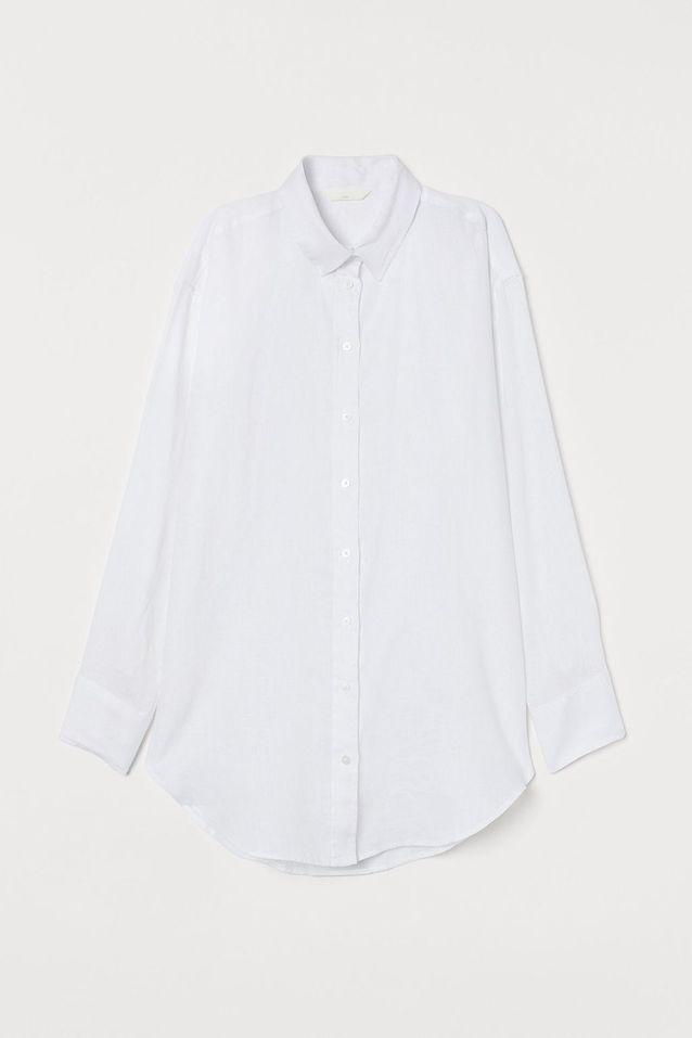 Chemise blanche longue H&M