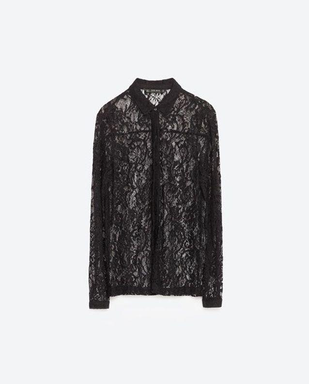 large choix de couleurs qualité-supérieure meilleure qualité pour Chemisier transparent noir Zara - 15 chemisiers transparents ...