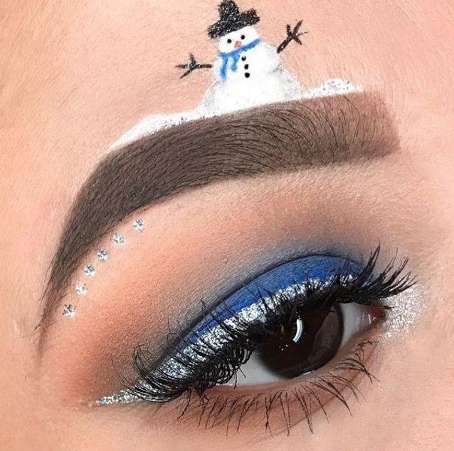 Maquillage des yeux bonhomme de neige , 10 idées