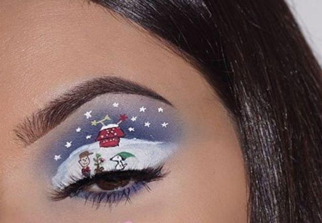 Maquillage des yeux façon bande dessinée