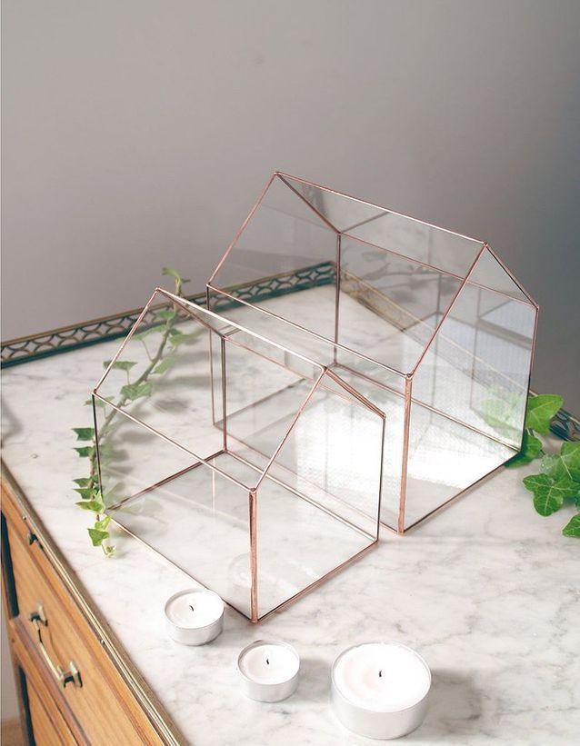 Une petite maison en verre