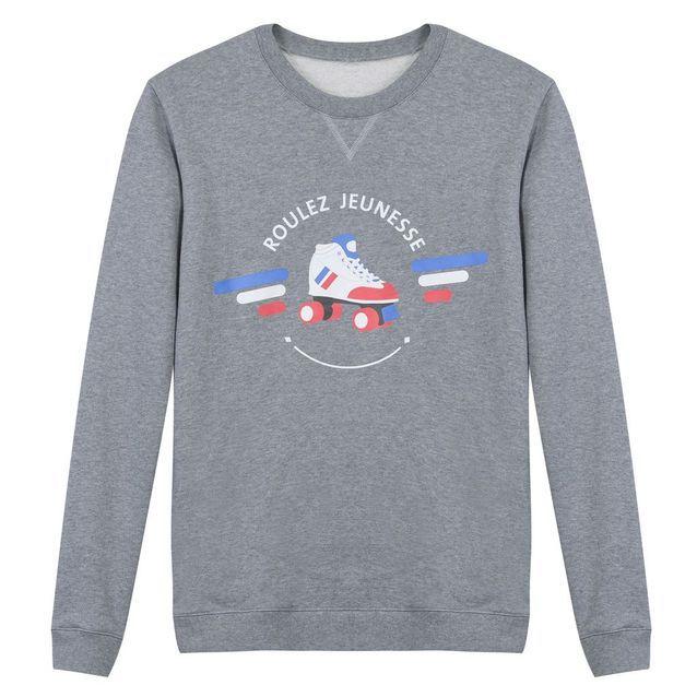 Sweatshirt gris chiné mixte, Le Slip français