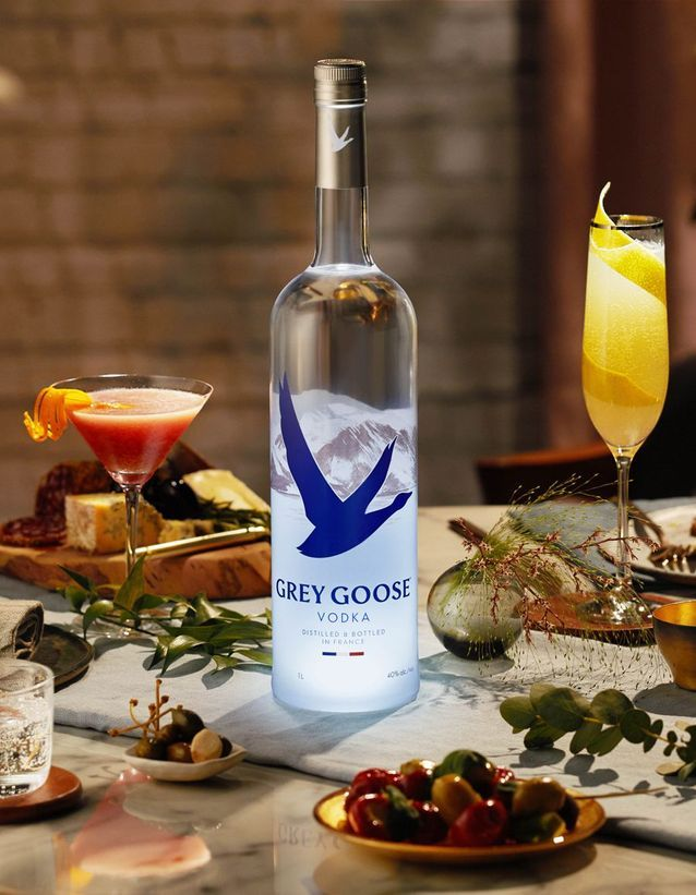 Une bouteille Grey Goose