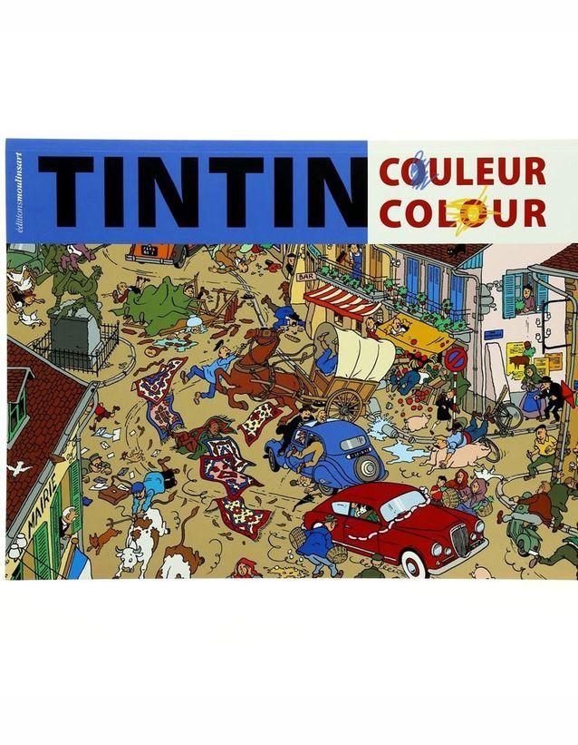 « Livre de coloriage : Les Aventures de Tintin » par Moulinart