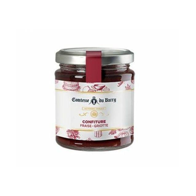 Confiture fraises griottes
