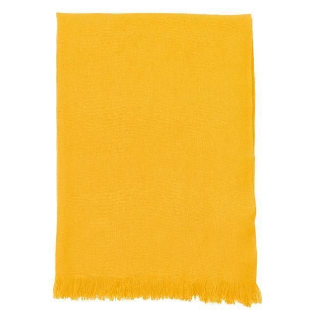 Echarpe Voile de Cachemire jaune Vitamine, Eric Bompard