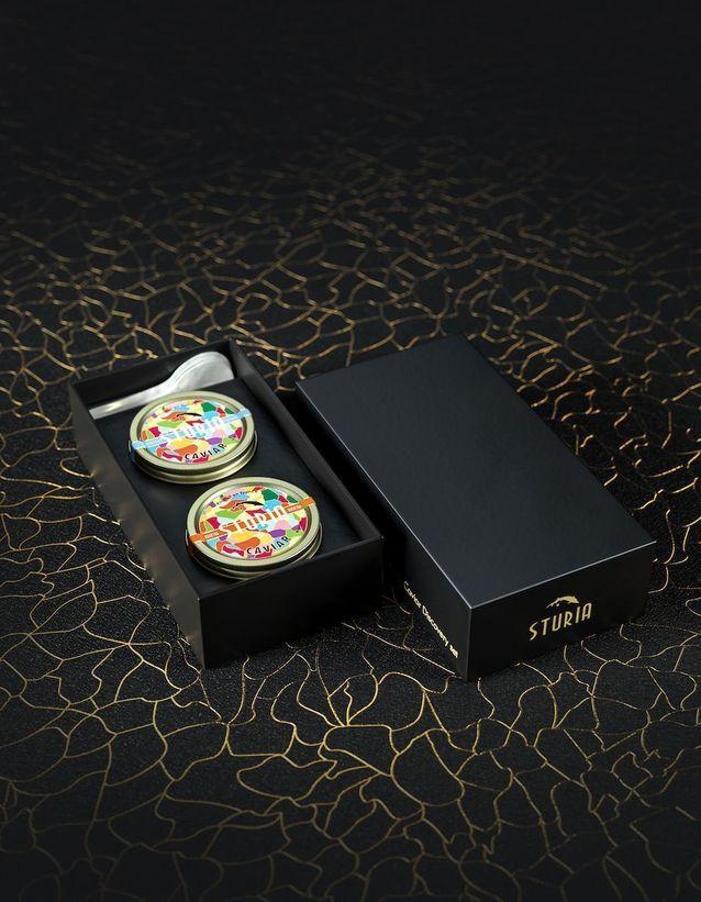 Coffret de dégustation caviar Sturia
