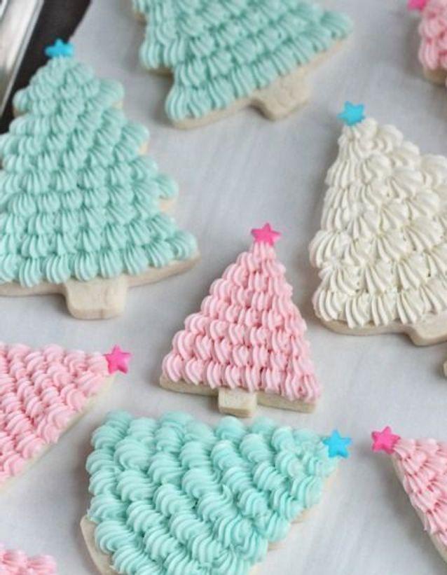 Christmas cake : Des sablés pastel