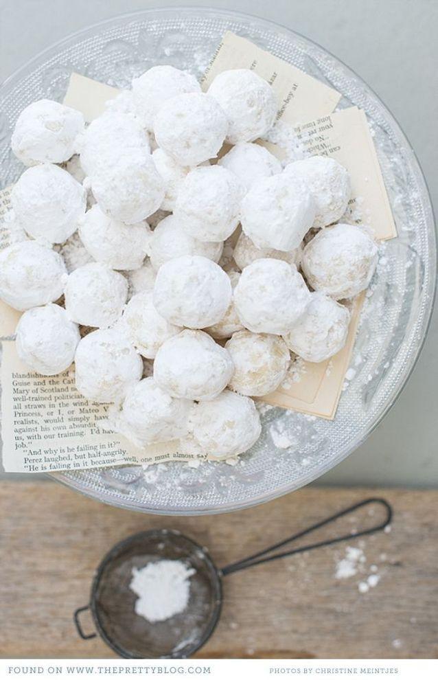 Christmas cake : Des truffes de chocolat blanc