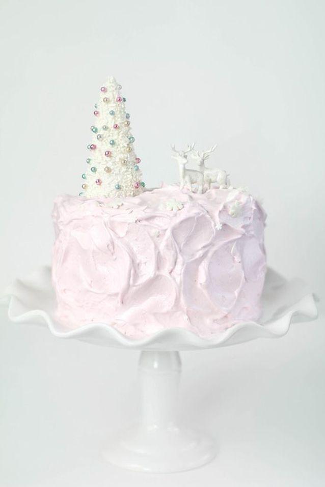Christmas cake : Eggnog Cake à l'eau de rose