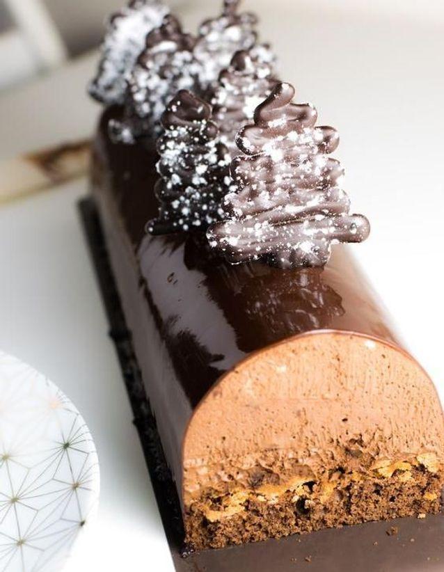 Décoration bûche de Noël chocolat , Comment décorer sa bûche