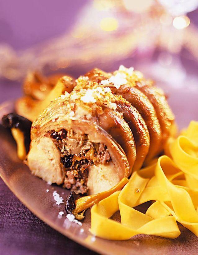 Râbles de lapin farcis aux morilles et foie gras