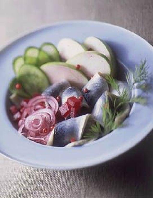 Noël scandinave: une salade de harengs