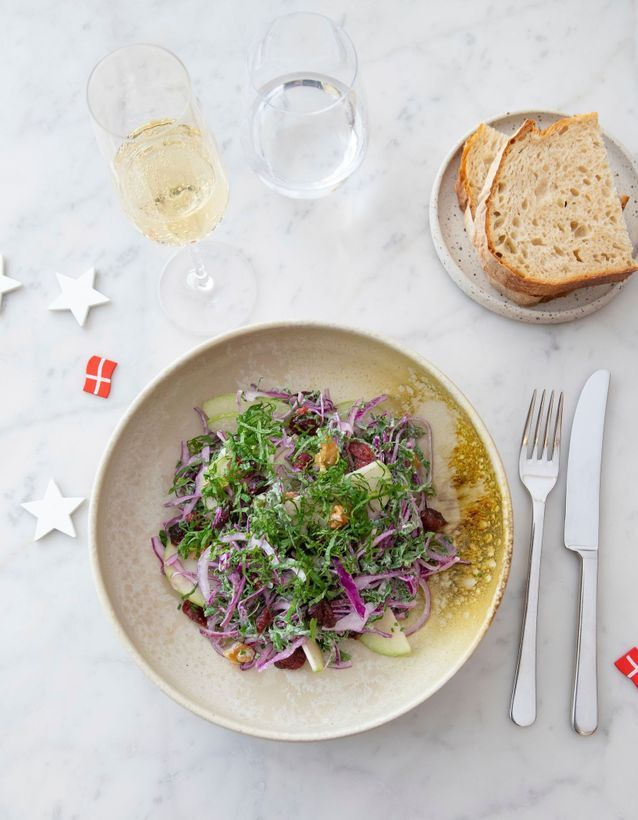 Salade végétarienne de Noël