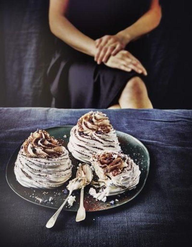 Monts-blancs marron et chocolat